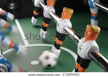 Table soccer, action - stock photo