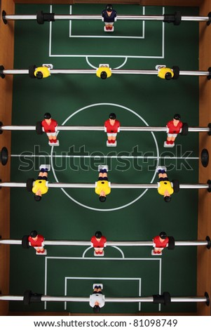 table soccer background - stock photo