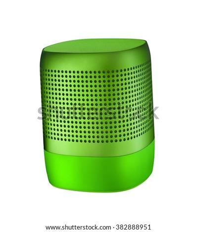 Table speaker isolated on white - stock photo