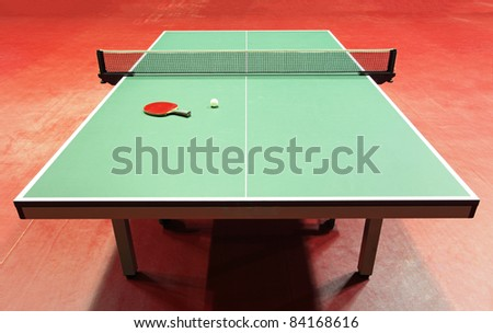 Table - Table tennis - stock photo