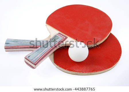 table tennis bats. table tennis bats and ball