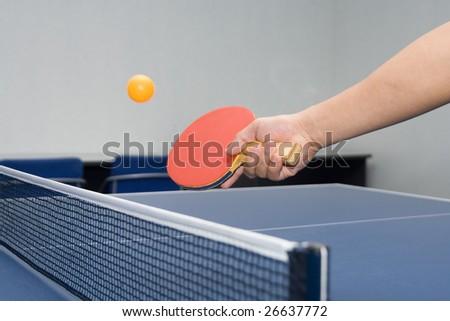 Table Tennis - Drop Shot - stock photo
