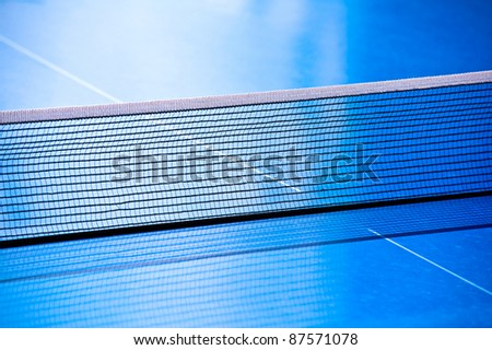 Table tennis net closeup - stock photo
