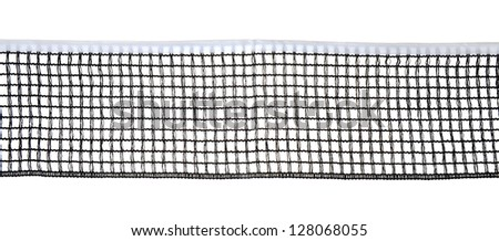 Table tennis net closeup, isolated on white background - stock photo