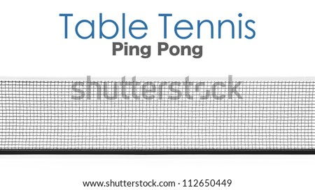Table Tennis Net Texture Table Tennis Net Isolated On