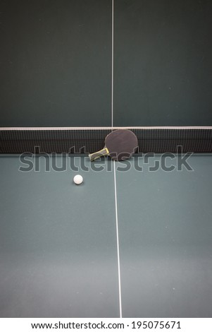 table tennis or ping ping - stock photo
