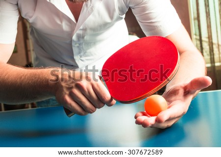Table tennis, ping pong - stock photo