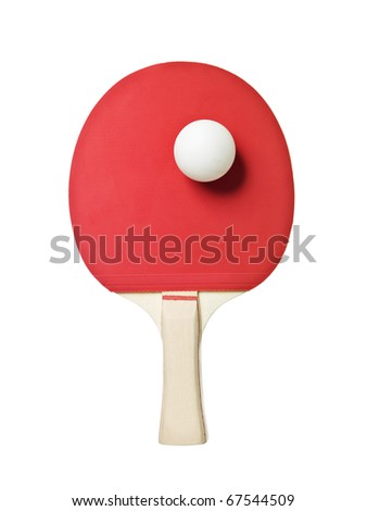 Table Tennis Racket isolated on white background - stock photo