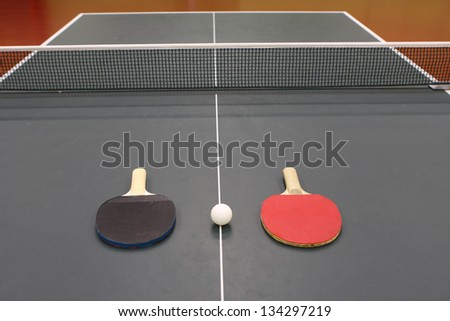 table tennis rackets for table tennis - stock photo