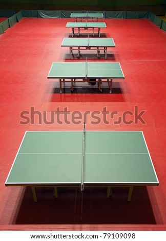 Table tennis venue - stock photo
