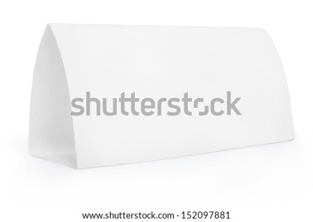 Table Tent - stock photo