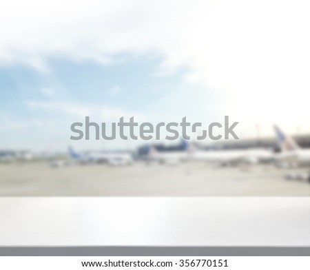 Table Top And Blur Building Of The Background - stock photo