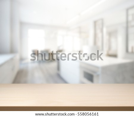 Kitchen Table Top Background table top blur kitchen room background stock photo 539840518