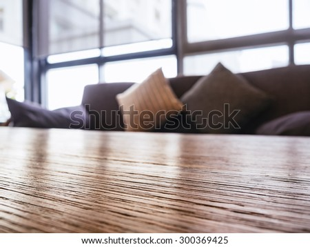 Table top Sofa and Pillows Interior decoration - stock photo