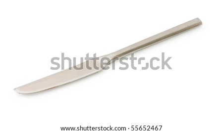Table utensils isolated on the white - stock photo