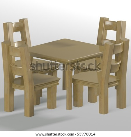 table with chairs - stock photo