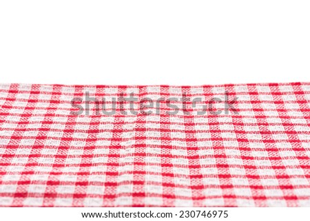 Tablecloth isolated on white background - stock photo