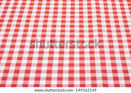 Tablecloth red and white perspective texture background  - stock photo