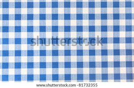 tablecloth square blue color background - stock photo