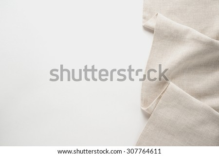 Tablecloth textile on white background   - stock photo