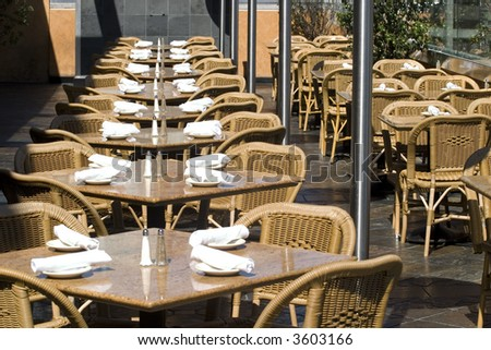 Tables in restaurant