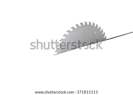 Tablesaw Blade Cutting Through White