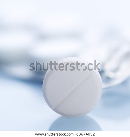 Tablet closeup.Medical Treatment - stock photo