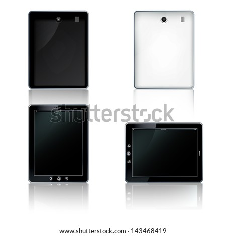 Tablet computer, - stock photo