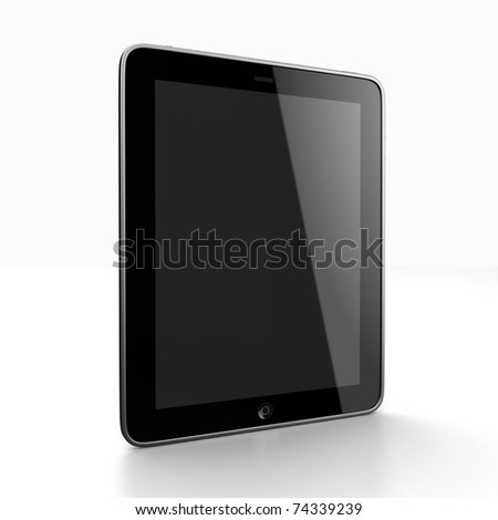 Tablet computer input device - stock photo