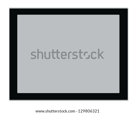 tablet computer isolated on the white backgrounds