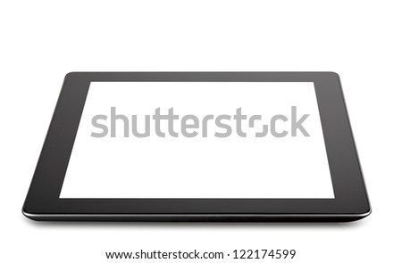 Tablet computer (tablet pc) . Modern portable touch pad device - stock photo
