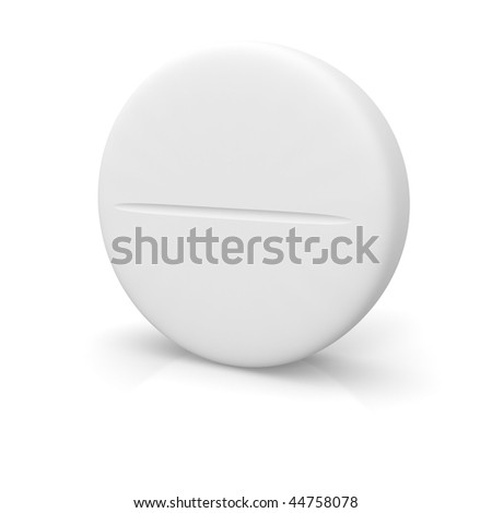 Tablet isolated on white - stock photo