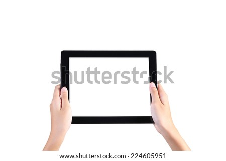 tablet on hand