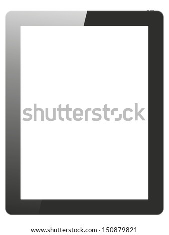 tablet on white background - stock photo