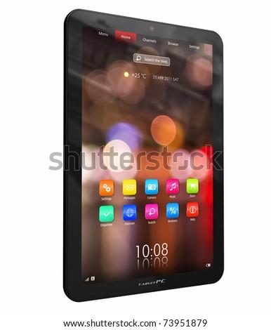 Tablet PC - stock photo