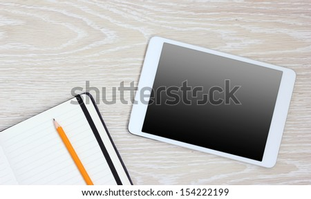 tablet pc computer notebook blank