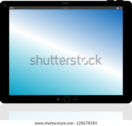 tablet pc computer with abstract background, raster - stock photo