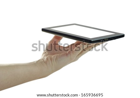 Tablet PC. Computing tool of the future. - stock photo