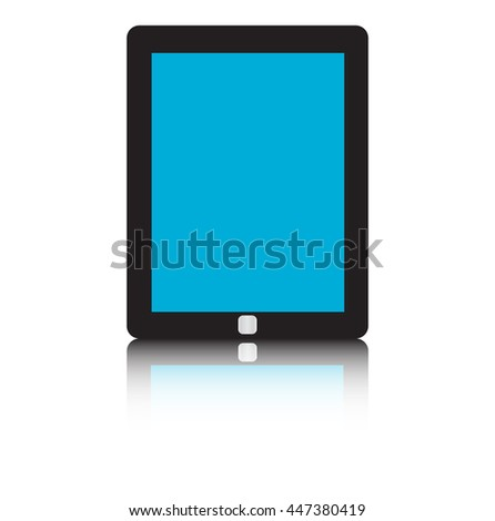 Tablet pc isolated on white background. illustration. - stock photo