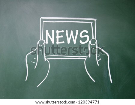 Tablet PC news content - stock photo