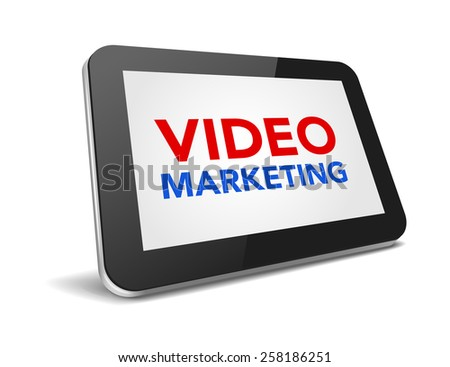 tablet pc with text on display over white background , illustration  - stock photo