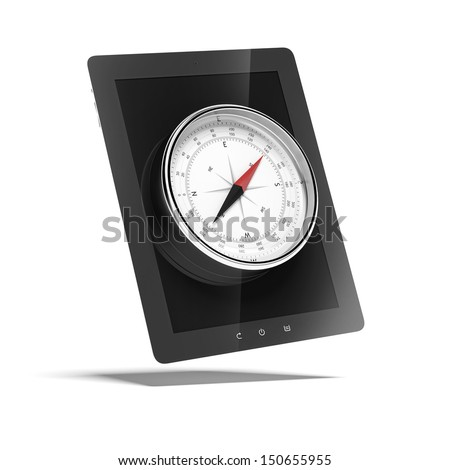 tablet with compass
