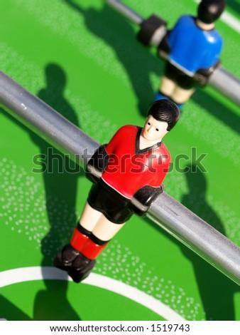 Tabletop football - stock photo