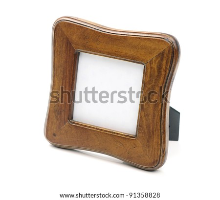 Tabletop picture frame on white background - stock photo