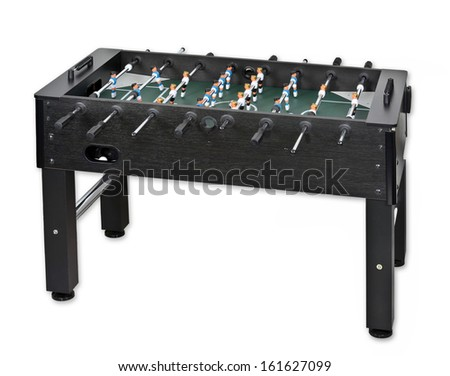 Tabletop soccer, isolated - stock photo