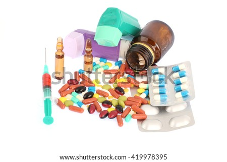 tablets and pills - stock photo