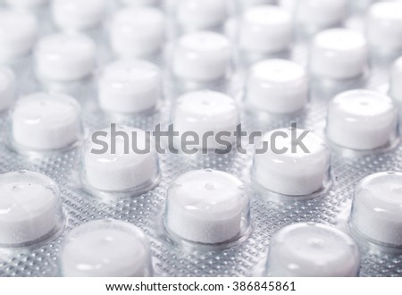 Tablets closeup background. - stock photo