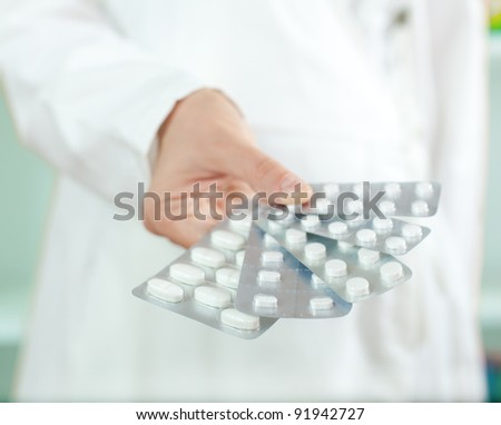 Tablets in blister package