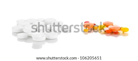 Tablets isolated on white - stock photo