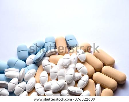 Tablets pharmacy medicine medical - stock photo